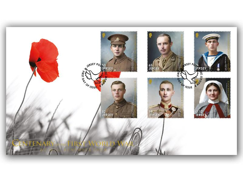 Jersey Great War Centenary First Day Stamps Cover