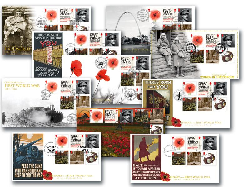 The Great War Centenary 2018 Set of 10 Covers