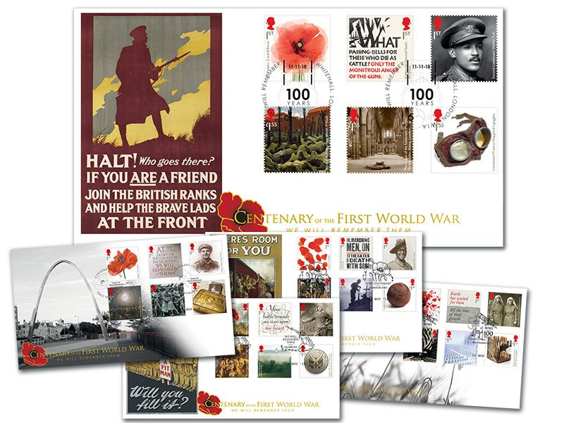 The Great War Centenary 2018 Set of 5 Covers