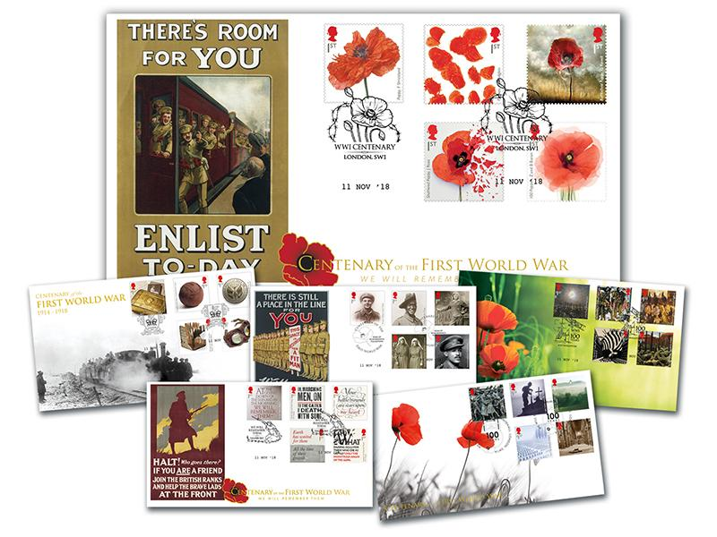 The Great War Centenary 2018 Set of 6 Covers