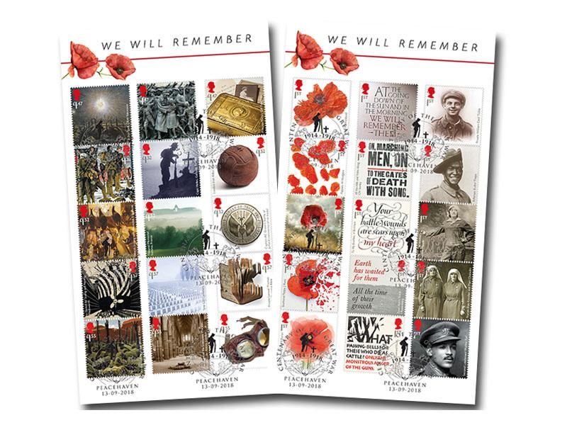 The Great War Centenary 2018 Composite Sheet Vertical Pair of Covers