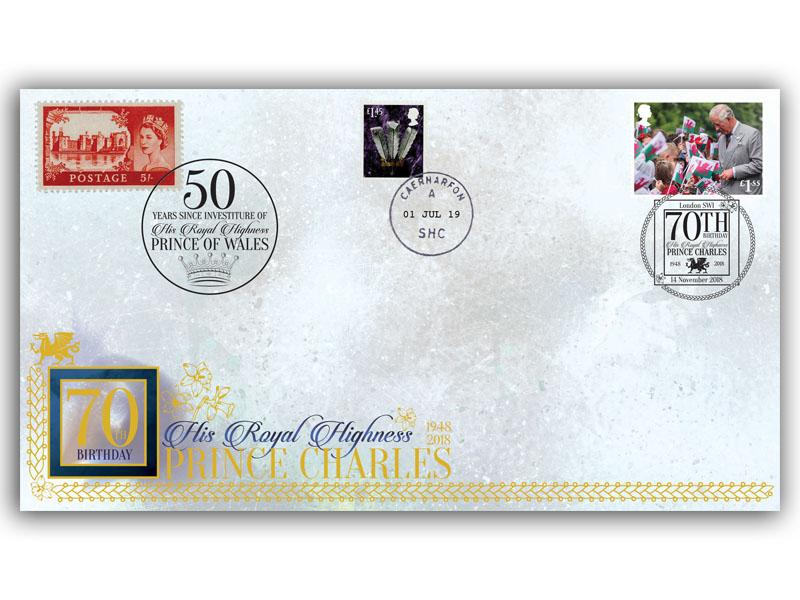 50th Anniversary of the Prince of Wales Investiture First Day Covers