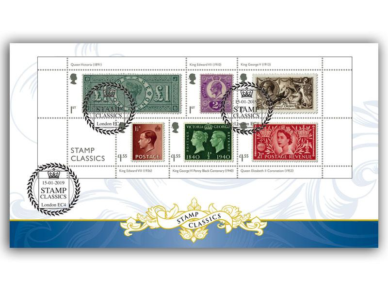 Stamp Classics Miniature Sheet Cover
