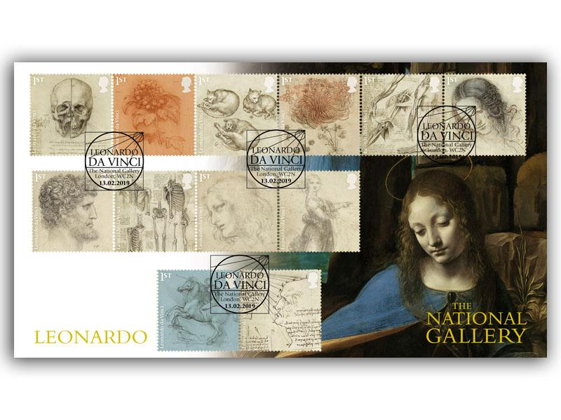 500th Anniversary of the Death of Leonardo da Vinci Full Set Cover