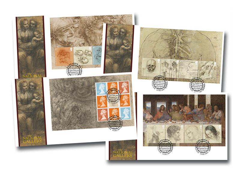 500th Anniversary of the Death of Leonardo da Vinci Prestige Booklet Set