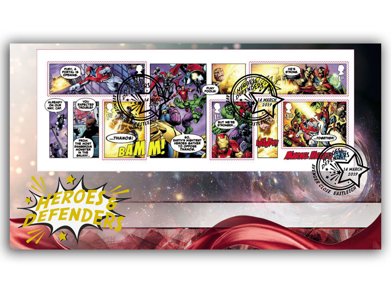 Marvel - Heroes and Defenders Miniature Sheet Cover