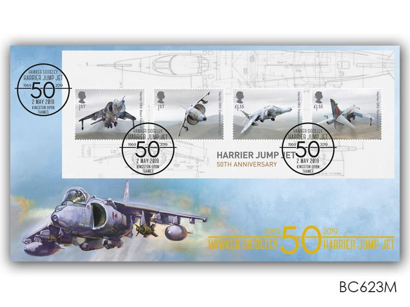 British Engineering-Harrier Jump Jet 50th Anniversary Miniature Sheet Cover