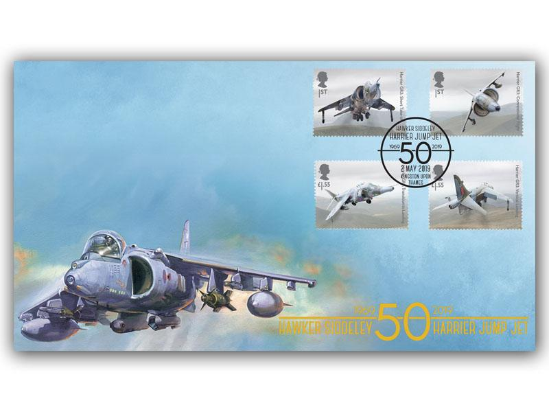 British Engineering-Harrier Jump Jet 50th Ann Stamps Torn from the M/S