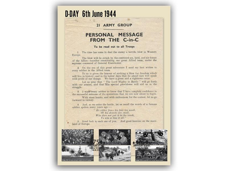 D-Day Montgomery's Message to the Troops