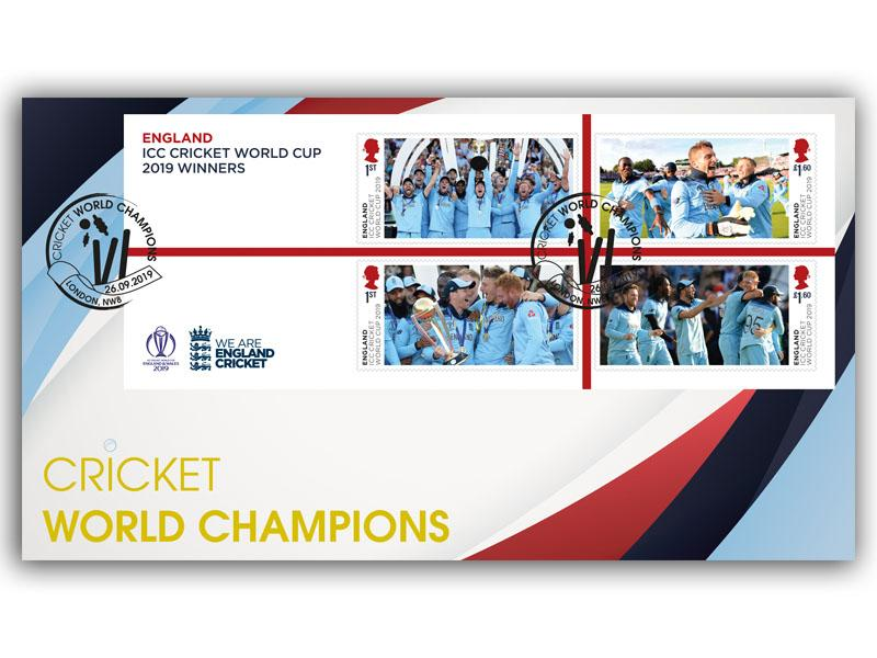 Mens Cricket World Cup Championships Miniature Sheet
