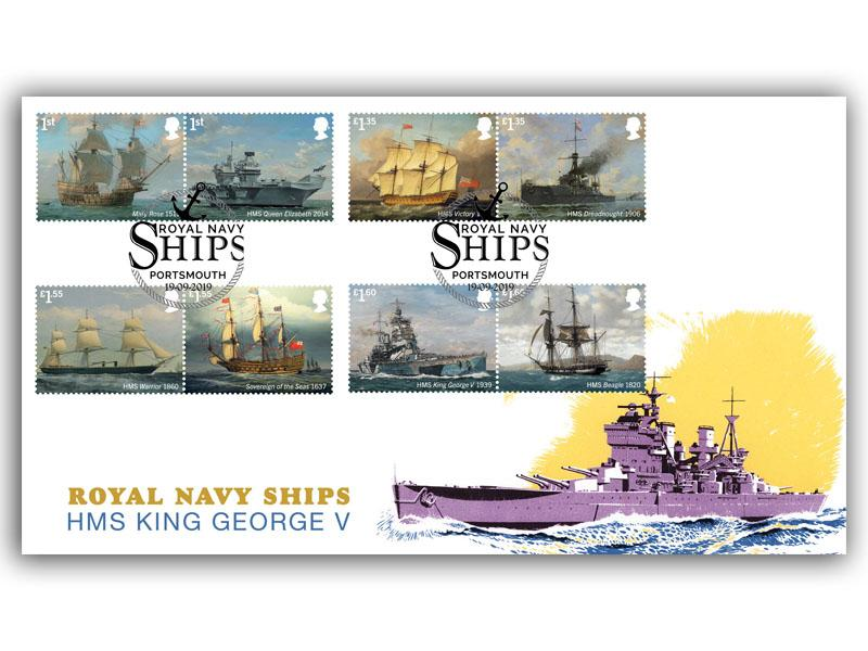 Royal Navy Ships First Day Cover