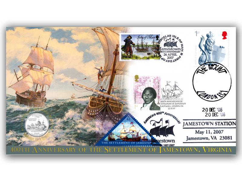 400th Anniversary of the Settlement of Jamestown Coin Cover