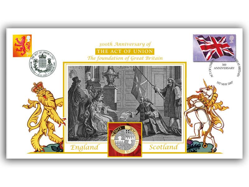 300th Anniversary of the Act of Union Coin Cover