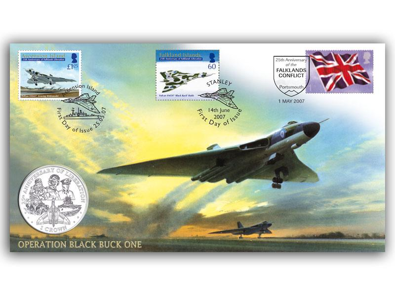 25th Anniversary of the Falklands War Coin Cover