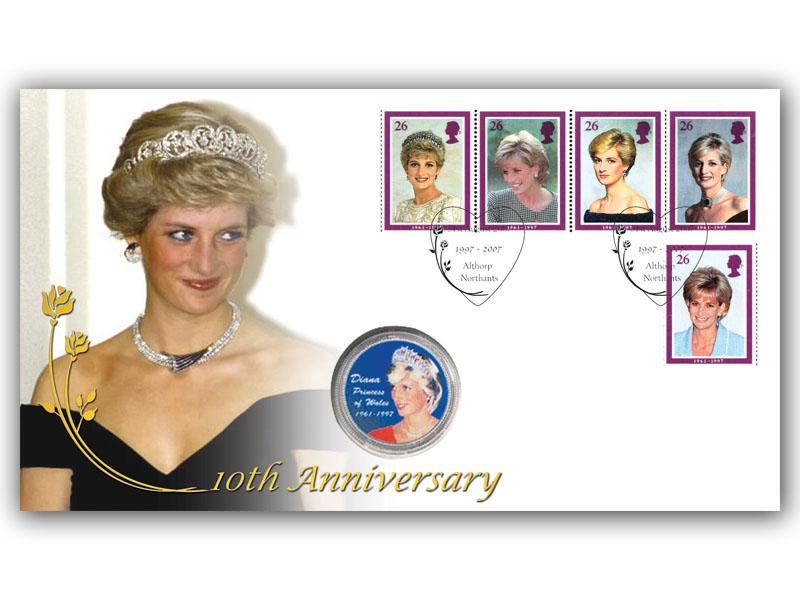 Princess Diana Tribute Coin Cover