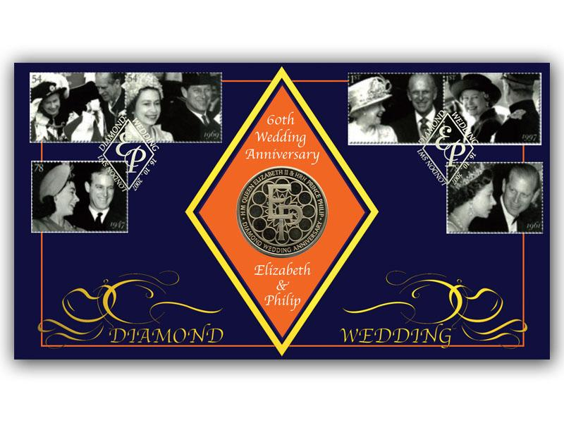 Diamond Wedding Coin Cover