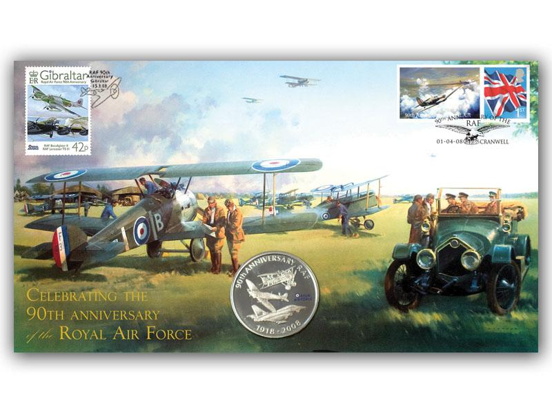 90th Anniversary of the Royal Air Force Coin Cover