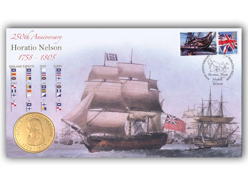 250th Anniversary of the Birth of Horatio Nelson Coin Cover