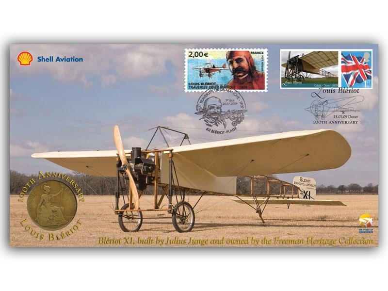 100th Anniversary of the First Cross Channel Flight by Blériot Coin Cover