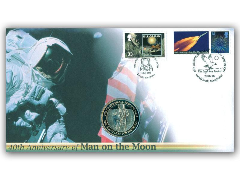 40th Anniversary of the First Man on the Moon Coin Cover