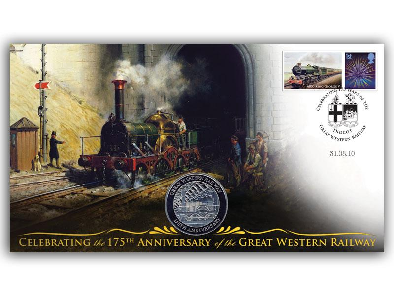 175th Anniversary of the Great Western Railway Coin Cover