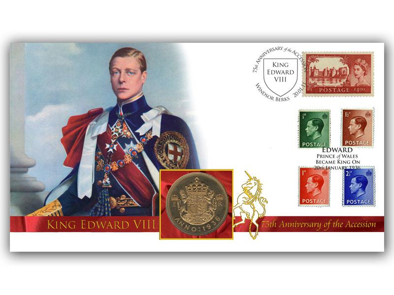 Accession King Edward VIII - 75th Anniversary Coin Cover
