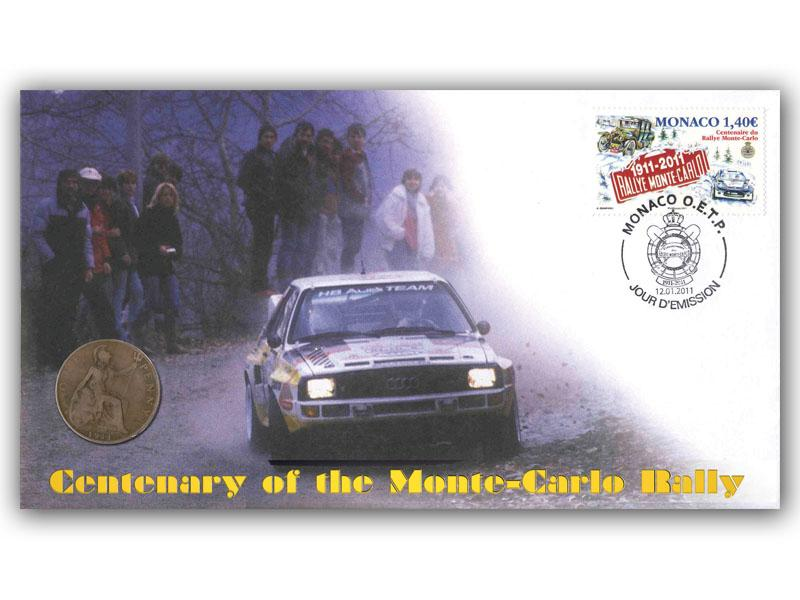 Centenary of the Monte Carlo Rally Coin Cover