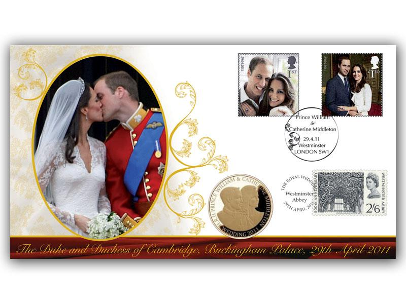 Royal Wedding Coin Cover - The Kiss