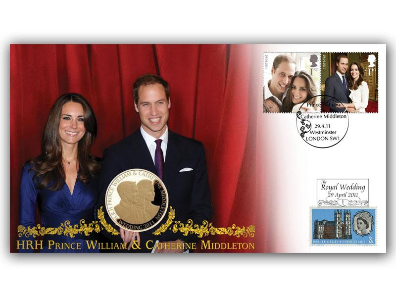 Royal Wedding Coin Cover - The Engagement (red curtain)