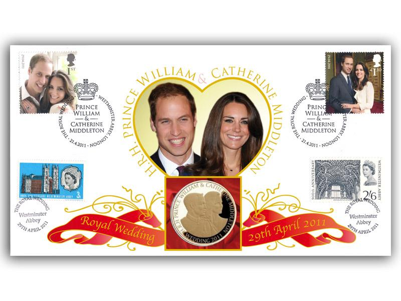 Royal Wedding Coin Cover - The Engagement