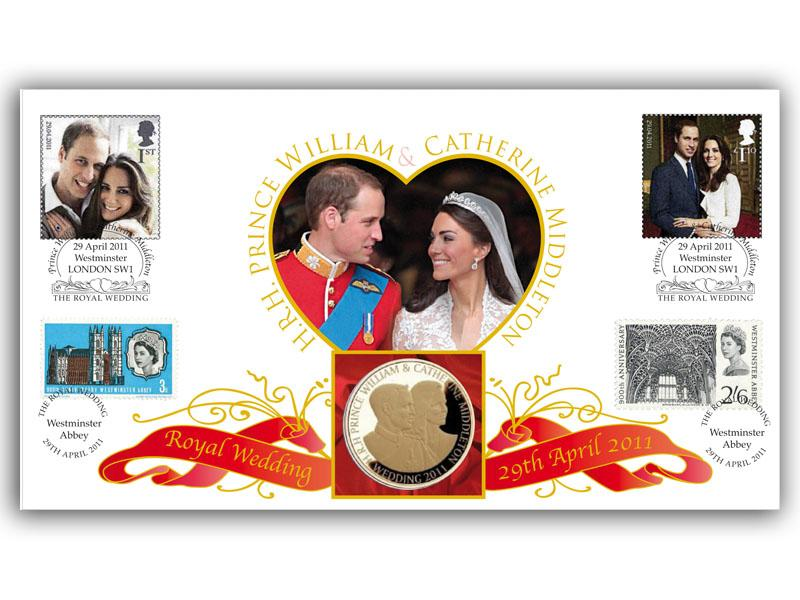 Royal Wedding Coin Cover - The Look