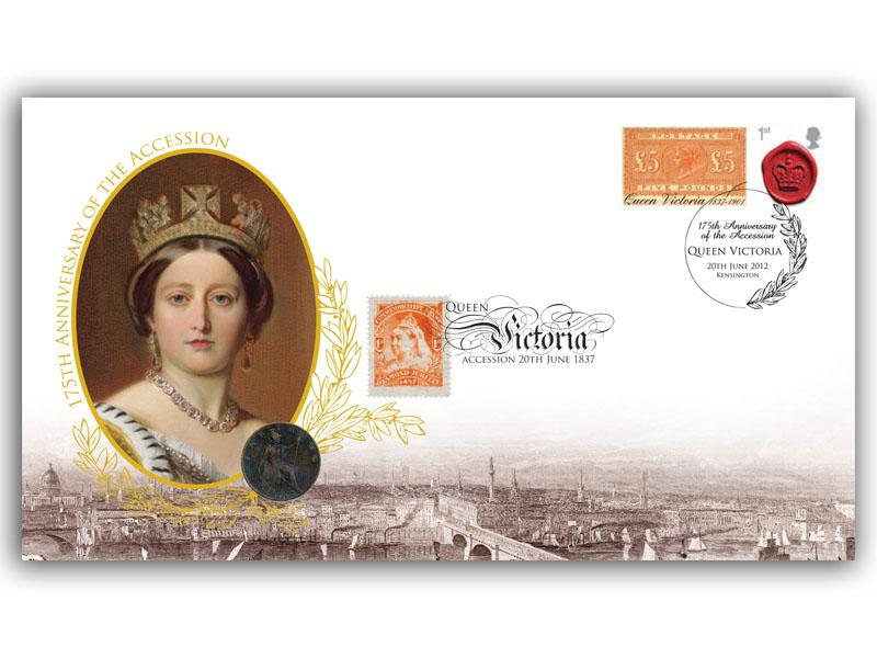 175th Anniversary of Queen Victoria's Accession Coin Cover