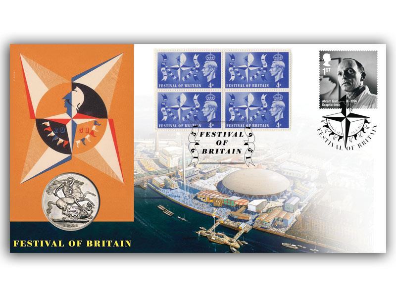Abram Games Festival of Britain Coin Cover