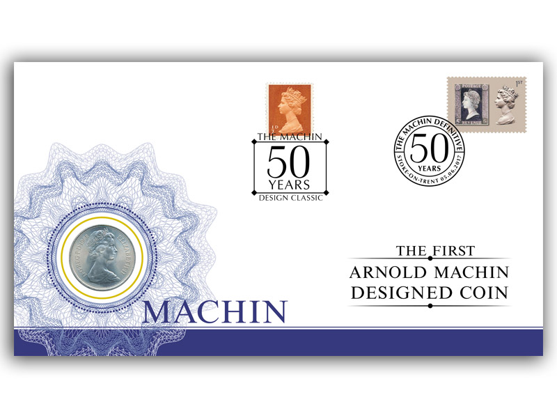 50th Anniversary of the Machin Coin Cover