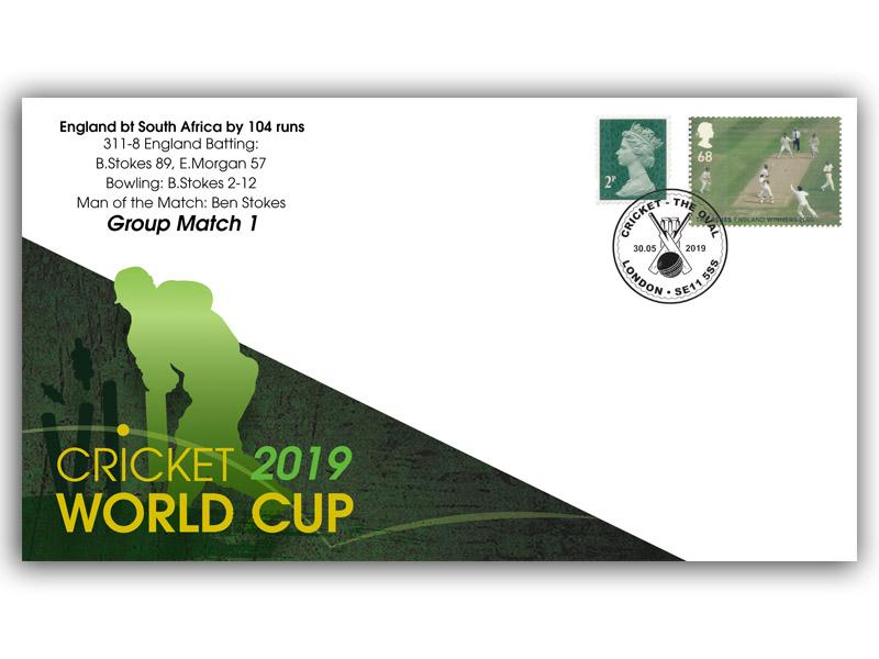 2019 Cricket World Cup Set of 12 Covers First Day Covers