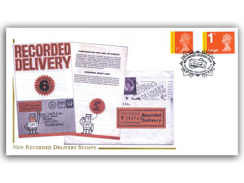2009 New Recorded Delivery Stamps