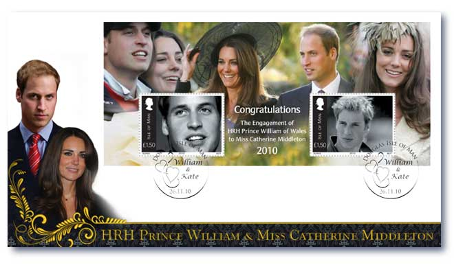Isle of Man Royal Engagement FDC Cover