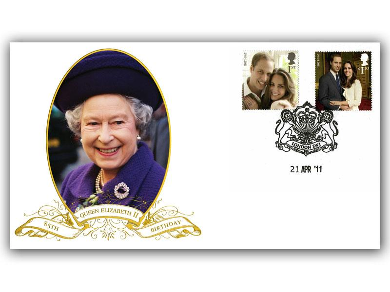 Queen 85th Birthday FDC Cover