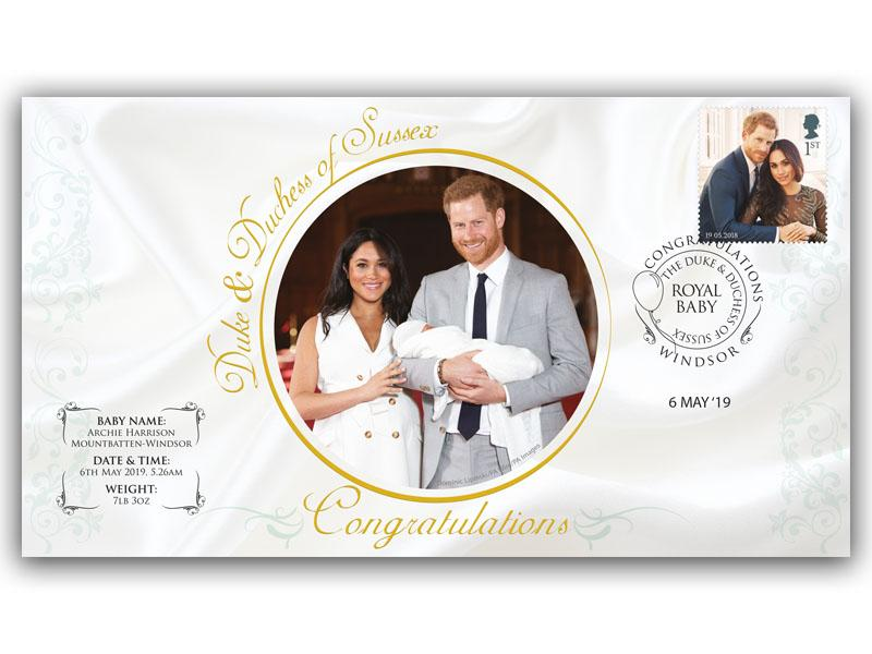 The Duke and Duchess of Sussex Royal Baby First Day Covers
