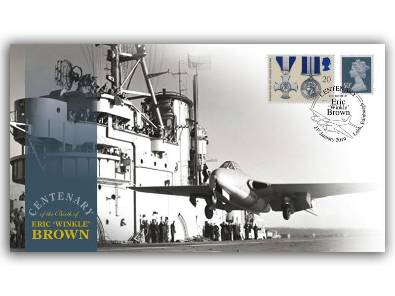 Centenary of the Birth of Eric 'Winkle' Brown First Day Covers