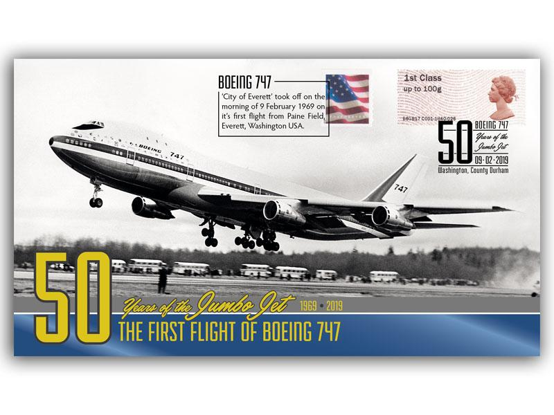50th Anniversary of the Boeing 747 Jumbo Jet First Flight First Day Covers