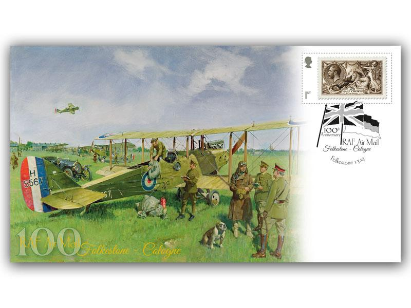 100th Anniversary of the RAF Airmail - Folkestone to Cologne