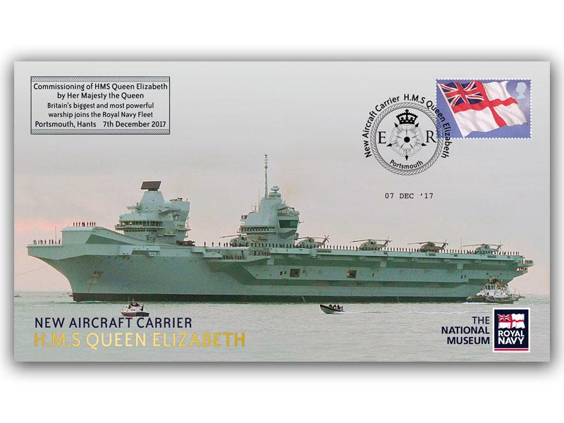 HMS Queen Elizabeth Aircraft Carrier Official Commissioning
