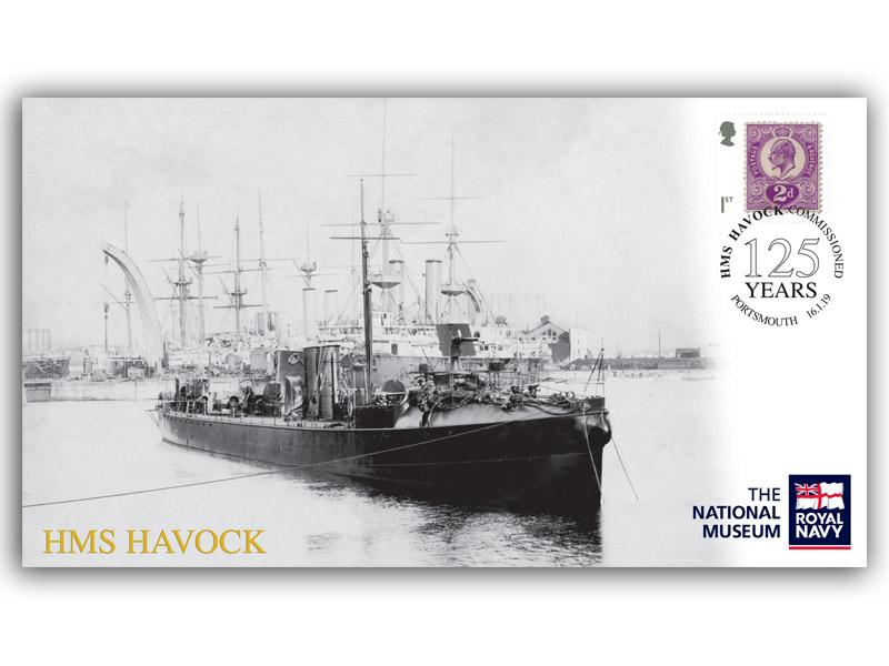 125th Anniversary of the Commissioning of HMS Havock First Day Covers