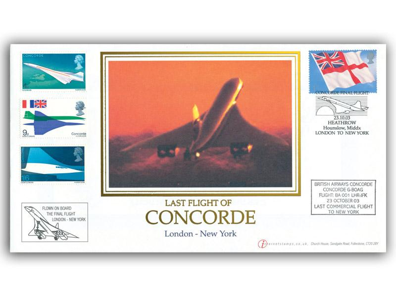 Concorde Final Flight London to New York Carried Cover