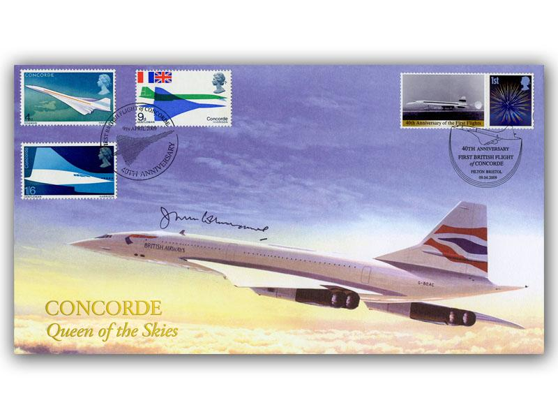 40th Anniversary of the First Flight of Concorde Signed Cover