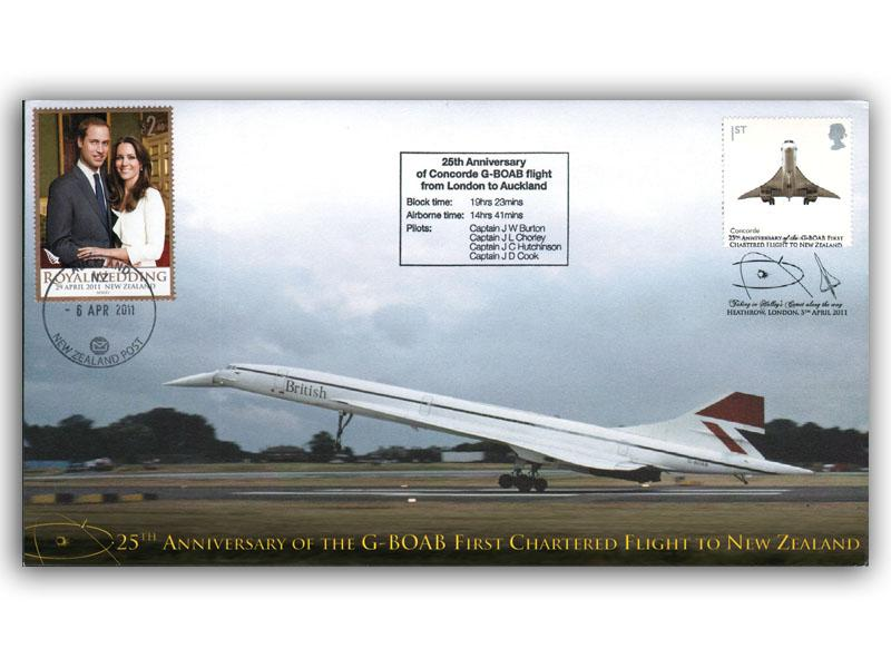 25th Anniversary of Concorde G-BOAB First Chartered Flight to New Zealand