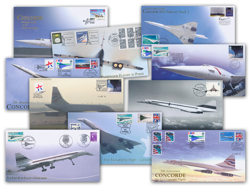 10 Different Unsigned Concorde Covers - Set 1