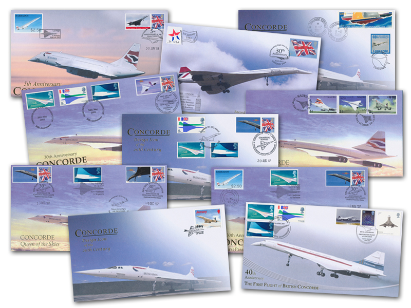 10 Different Unsigned Concorde Covers - Set 2