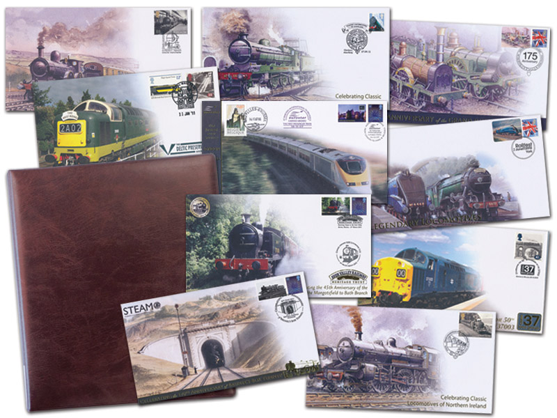 10 Buckingham Rail Covers Plus a Standard Railway Album